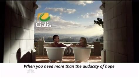 cialis commercial bathtubs leno turns obama clinton 60 minutes segment into cialis