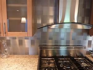 Best 25+ Stainless steel backsplash tiles ideas on