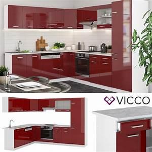 Küche 300 Cm : vicco l k che r line 300 cm rot hochglanz ~ A.2002-acura-tl-radio.info Haus und Dekorationen