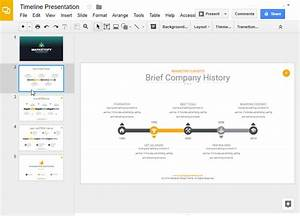How to make a timeline on google slides with templates for Timeline google slides