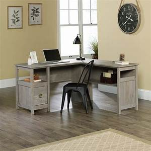 Oak, L-shape, Home, Office, Desk