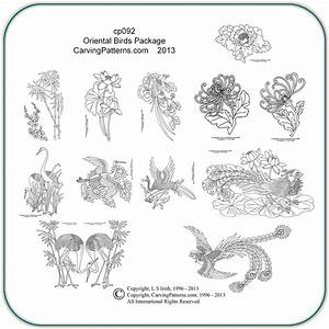 Oriental Birds Patterns – Classic Carving Patterns