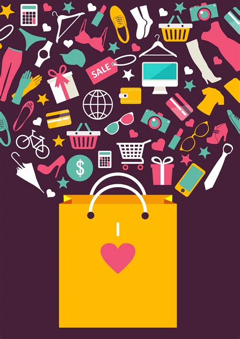 shopping poster background  shopping