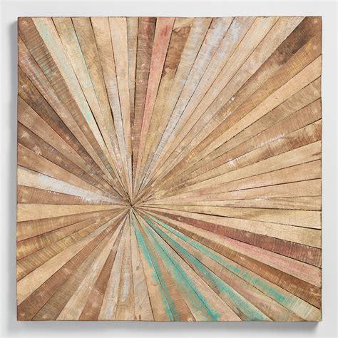 wall decor antiqued sunburst wood panel wall decor market