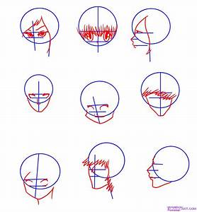 How to Draw Manga Faces, Step by Step, Anime Heads, Anime ...