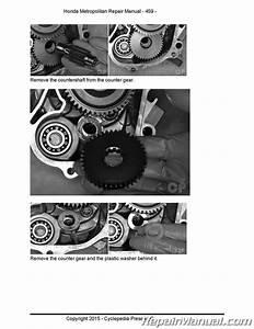 Chf50 Metropolitan Honda Scooter Service Manual Printed By