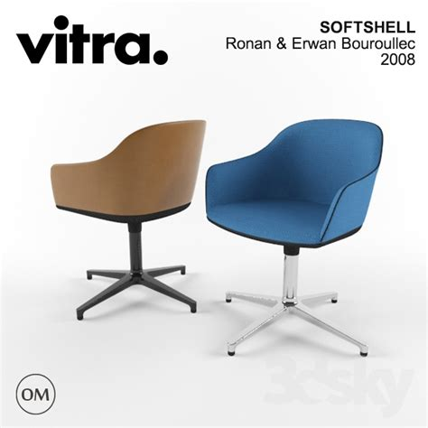 leather and fabric 3d models arm chair vitra softshell