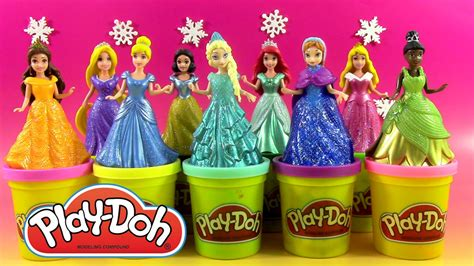 princesse en pate a modeler 9 disney princesses magiclip p 226 te 224 modeler play doh doh vinci