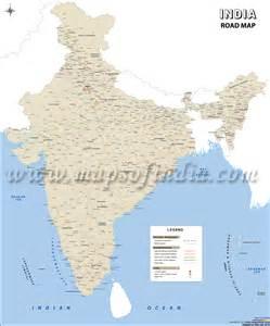 map of india road map wall map of india roads