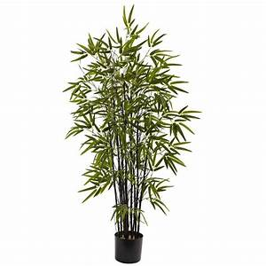 Nearly Natural 4 ft Black Bamboo Tree-5417 - The Home Depot