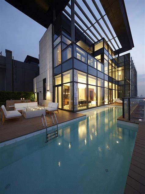 penthouse architecture house   tree  kokaistudios