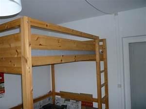 Hochbett 1 40 : hochbett holz 140 x 200 cm mit matratze von ikea ~ Indierocktalk.com Haus und Dekorationen