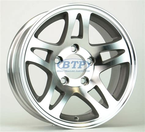 Aluminum Boat Trailer Wheels And Tires by Aluminum Boat Trailer Wheel 14 Inch Split Spoke 5 Lug 5 On