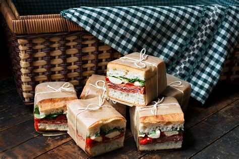 pressed italian picnic sandwiches seasons  suppers