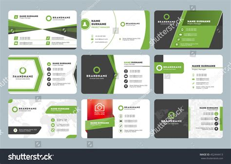 Set Modern Business Card Templates Business Stock Vector Business Complaint Letter Samples Example Inquiry Short In Arabic Sample Plan Objectives Card Dimensions For Indesign Property Management Block Style