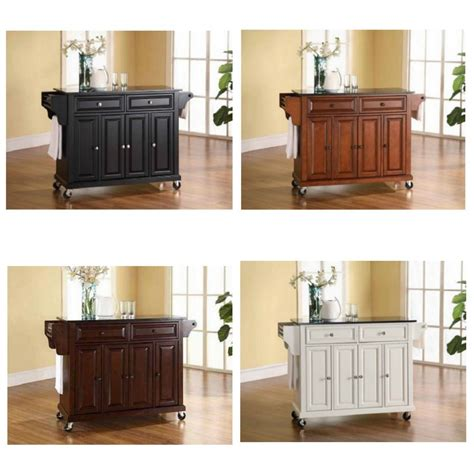 Kitchen Carts And Islands On Wheels Counter Granite Top