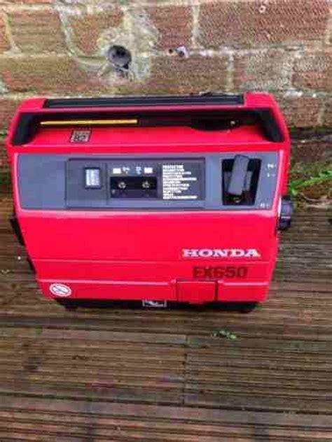 Secondhand Generators   Generators 0 to 5kva   Honda EX650