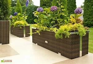 Jardinière Brise Vue : jardini re en r sine tress e 108x39x43cm l l h rattan art ~ Premium-room.com Idées de Décoration