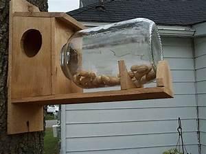 Handmade Cedar Wood Squirrel Feeder Without Jar eBay