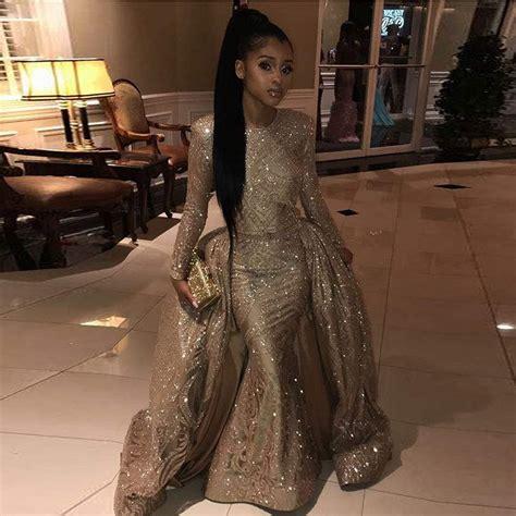 New Elegant Long Prom Dresses 2019 Mermaid Long Sleeve