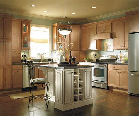 Kitchen Island Centerpiece Ideas - light maple kitchen cabinets homecrest cabinetry