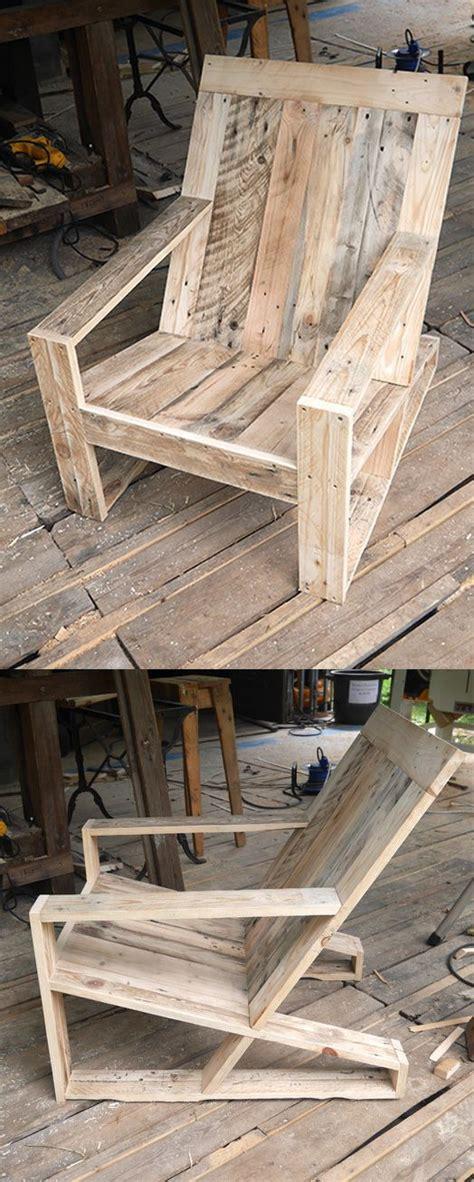plan chaise de jardin en bois fauteuil rdutemps palettes pinteres
