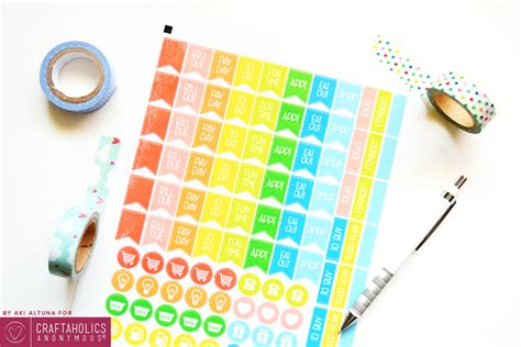 Mother's day coupon vector set. Craftaholics Anonymous® | Free Planner Stickers Printable ...