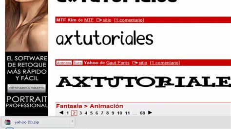 como descargar e instalar tipos de letra