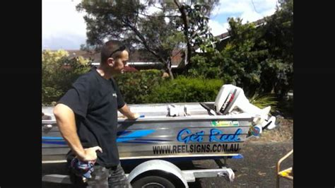 Boat Names Using Reel by How To Apply Boat Decal Sticker Using Method On
