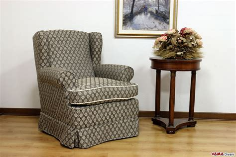 Small Bergere Fabric Armchair
