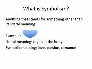 mini lesson 3 symbolism With what is the meaning of template