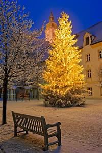 Christmas, Night, Scene, Freising, Bavaria, Germany