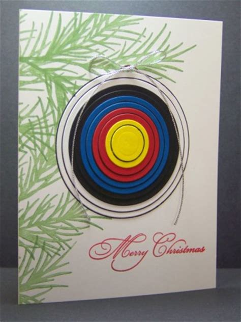 archery christmas card  mcstamper  splitcoaststampers