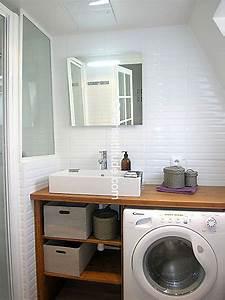 salle de bain avec machine a laver maison design bahbecom With meuble de salle de bain avec machine à laver