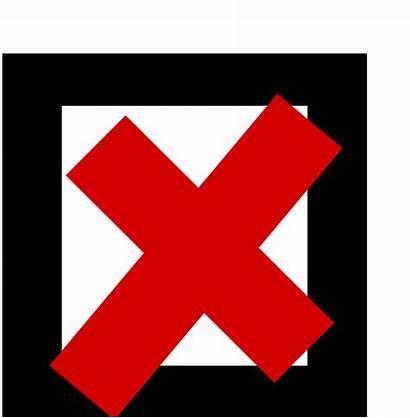 Cross Sign Clipart Check Clip Icon Svg