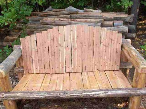 woodwork rustic cedar bench plans  plans