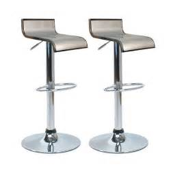 tabourets de bar cuisine argent waves lot de 2 achat vente tabouret de bar mati 232 re du