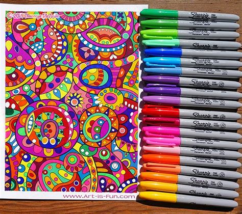 coloring page    sharpies learn