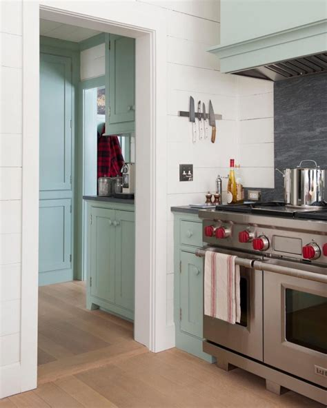 painting kitchen cabinets with farrow and farrow blue green interiors by color 9705