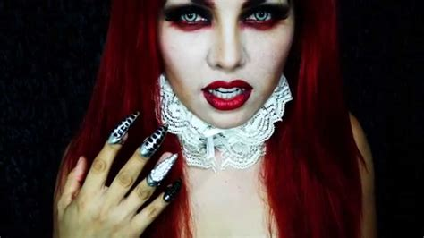 easy vampire makeup tutorial youtube