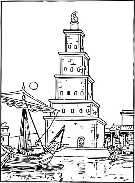 coloring pages  ancient wonders   world family