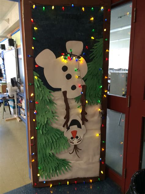 olaf holiday door decoration  school laurens