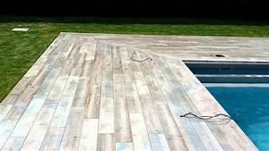 Bois Terrasse Piscine : carrelage terrasse piscine youtube ~ Melissatoandfro.com Idées de Décoration