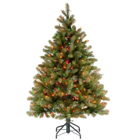 lighted christmas tree pictures national tree company 4 5 ft downswept douglas fir 1684