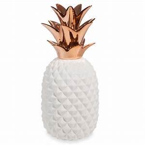 Ananas Deco Blanc : copper white porcelain pineapple ornament h 40 cm maisons du monde ~ Teatrodelosmanantiales.com Idées de Décoration