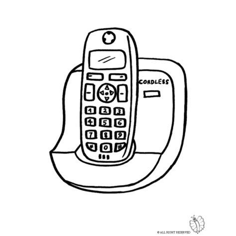 telefono da colorare disegno di cordless da colorare per bambini