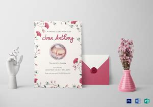 naming ceremony invitation designs templates  word