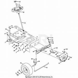 Troy Bilt 13bx79kt011 Horse  2013  Parts Diagram For Steering  U0026 Front Axle