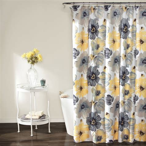 yellow and grey curtains walmart shower curtains yellow interior home design ideas