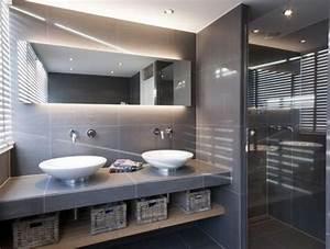 les 25 meilleures idees de la categorie carrelage brillant With porte d entrée pvc avec vasque beton cire salle bain